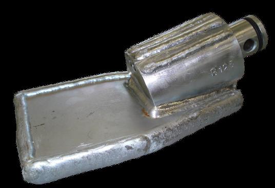 Foreuses horizontales dirigées (HDD) > Tetes de forage pour support de sonde ø 68 mm > Tête de forage B/125 (ø68)