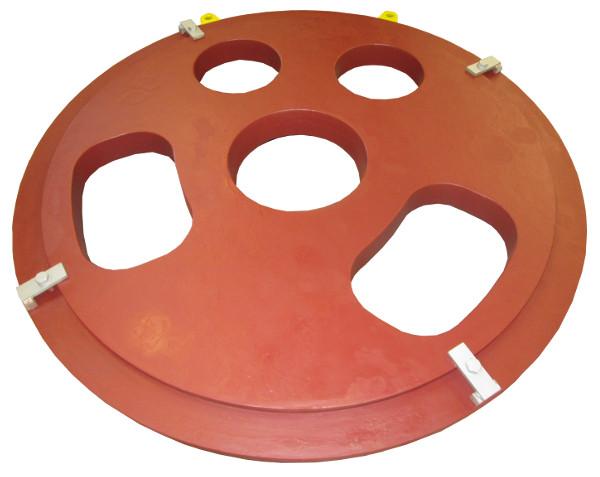 Pousse tube > Plateaus pousse-tube > Ram plate 565ø1900